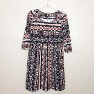 EUC Uncle Frank Aztec textured Babydoll dress